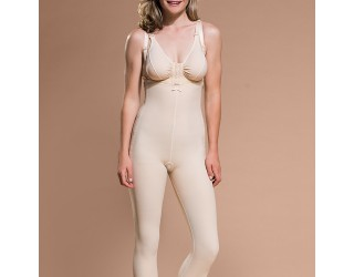 Marena Ankle-Length Compression Girdle with Suspenders (FBL)